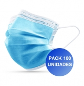 Pack 100x Máscara Descartável 3 camadas