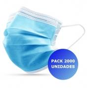 Pack 2000x Máscara Descartável 3 camadas